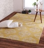 Honey Gold Wool 96 x 60 Inch Empire Scroll Carpet by Obeetee