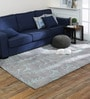 Light Blue Wool 60 x 96 Inch Anan Carpet by Obeetee