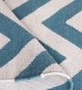 Porcelain Wool 84 x 60 Inch Zig Zag Dhurrie by Obeetee