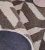 Taupe Wool 96 x 60 Inch Marquise Carpet by Obeetee