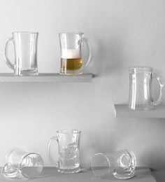 Ocean Lugano Glass 330 ML Beer Mugs - Set Of 6