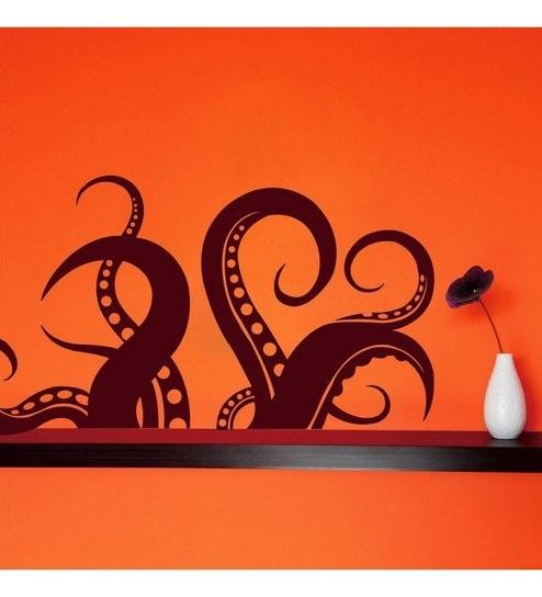 buy creative width octopus legs vinyl removable & repositionable