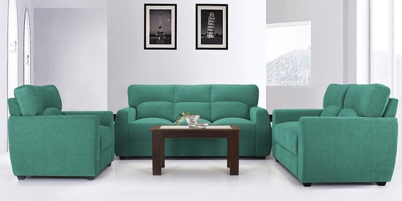 Octo Sofa Set 3 2 1 Seater In Teal Colour By Vive