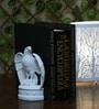 OddCroft Herald Eagle Resin White Book Ends - Set of 2