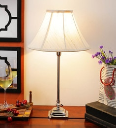 Off White Cotton Table Lamp - 1612174