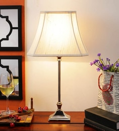 Off White Cotton Table Lamp - 1612169
