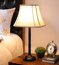 Off White Cotton Table Lamp By New Era - 1672698