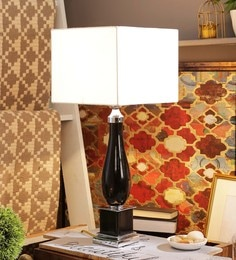 Off White Cotton Table Lamp - 1611612