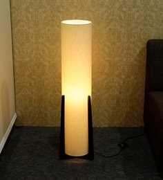 Contemporary lamps buy modern floor lamps online in india best off white fabric floor lamp aloadofball Image collections