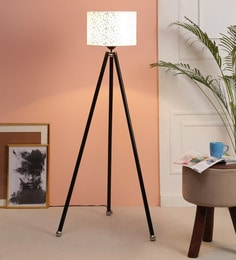 Off White Fabric Floor Tripod Lamp - 1693612
