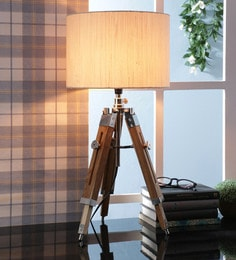 Off White Fabric Table Tripod Lamp - 1693649