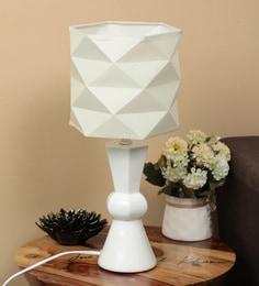 Off White Fabric Tomoko Table Lamp