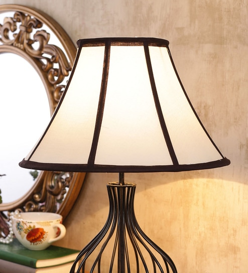 Buy off white brown cotton lamp shade by new era online colonial off white brown cotton lamp shade by new era aloadofball Image collections