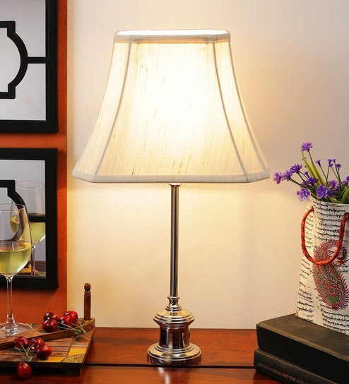 Off White Cotton Table Lamp - 1612182