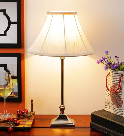 Off White Cotton Table Lamp - 1612168