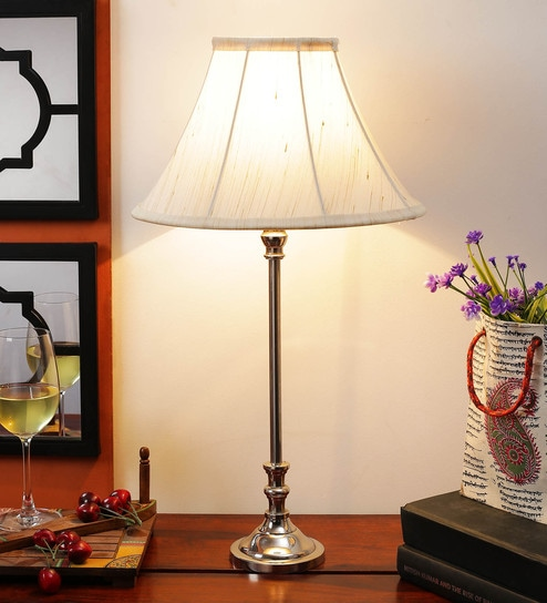 Off White Cotton Table Lamp - 1612184