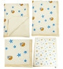 Offwhite Star and Moon Print Baby Quilt in White Colour by Cocobee