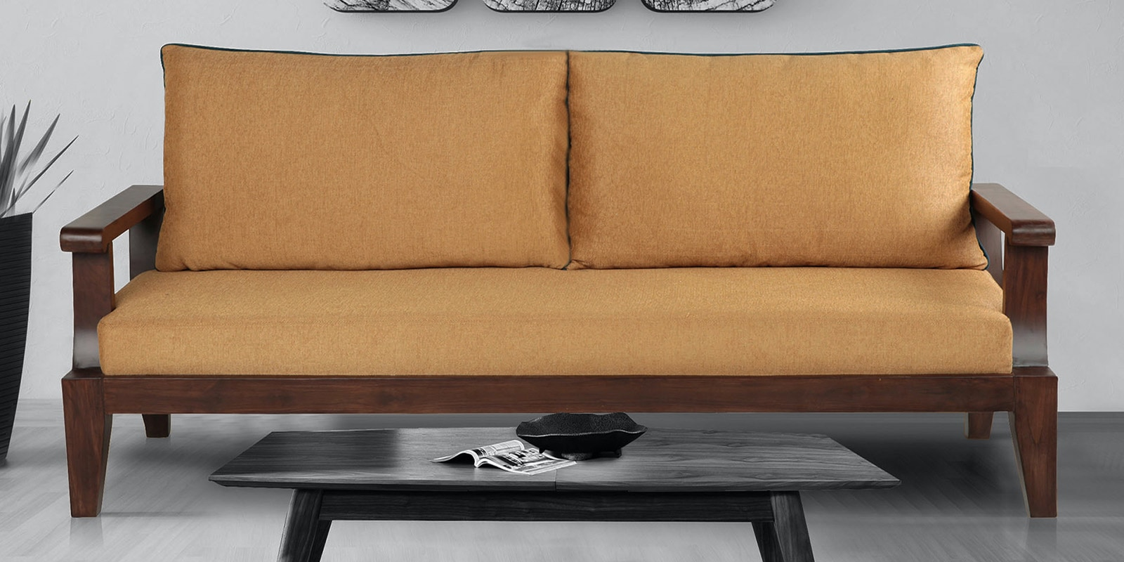 Buy Ohio 3 Seater Sofa In Mustard Colour By Arra Online Contemporary Sofa Sets Sofa Sets Furniture Pepperfry Product