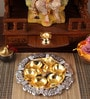 Ojas Gold & Silver Plated Stainless Steel Pooja Panti Set
