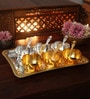 Ojas Gold Stainless Steel Home & Kitchen Gold Plated Gifting Set
