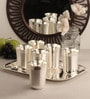 Ojas Impressive Silver Plated 250 ML Glasses With Tray - Set Of 6
