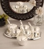 Ojas Silver Plated Set of 6 Dessert Bowls With Tray & Spoons