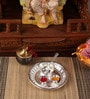Silver Plated Stainless Steel 2 No. Tabak Pooja Set by Ojas