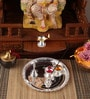 Silver Plated Stainless Steel Diamond Pooja Set by Ojas