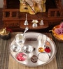 Silver Plated Stainless Steel New Laxmi Pooja Thali by Ojas