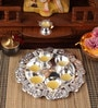 Silver Plated Stainless Steel Pooja Panti Set by Ojas