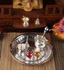 Silver Plated Stainless Steel Tabak Pooja Set by Ojas