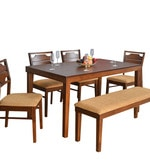 Olenna Six Seater Dining Set in Walnut Colour