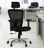 Olivia High Back Ergonomic Chair in Chrome Black Colour