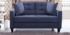 Olivia Two Seater Sofa in Blue Colour