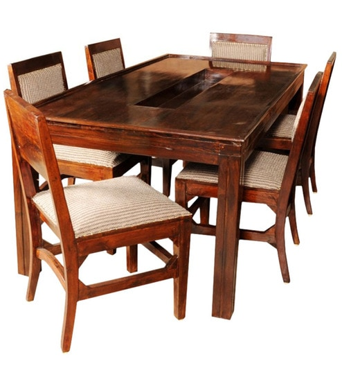 Sheesham Dining Table. Sheesham Dining Table Olida Wood With Upholstered  Chairs
