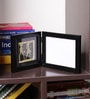 Olha-O Black & Gold Metal and Synthetic Wood 15.4 x 0.8 x 6.7 Inch Photo Frame