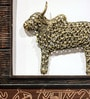 Olha-O Brown & Gold Wood & Metal Jaali Nandi Frame