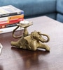 Olha-O Golden Metal Elephant Candle Holder