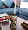 Olha-O Golden Metal Jaali Horse Candle Stand