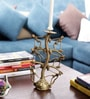 Olha-O Golden Metal Man Candle Stand