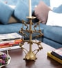 Olha-O Golden Metal Tortoise Candle Stand
