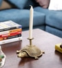 Olha-O Golden Metal Tortoise with Candle Stand