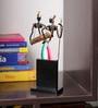 Olha-O Multicolour Wood & Wrought Iron Love Pair Figurine