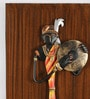 Multicolour Wood and Wrought Iron Musician Beautiful Wall Hanging - Set of 2 by Olha-O