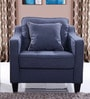 Olivia One Seater Sofa in Blue Colour by Evok