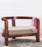Omaha Arm Chair in Honey Oak Finish
