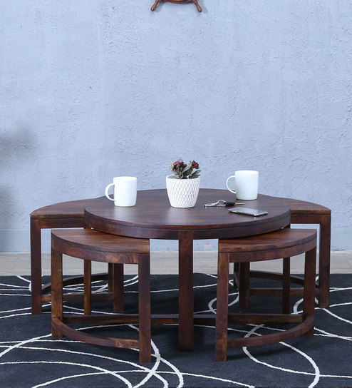 Omaha Coffee Table Set In Provincial Teak Finish