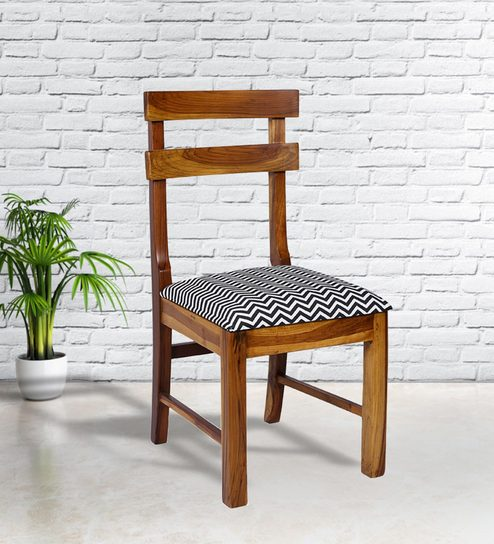 Fantastic Omaha Ladder Back Dining Chair In Thin Blue Chevron Print By Russet Ibusinesslaw Wood Chair Design Ideas Ibusinesslaworg