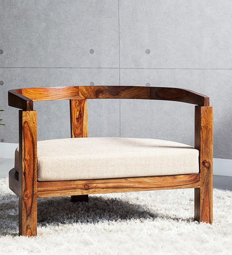 Omaha Arm Chair in Provincial Teak Finish by Woodsworth