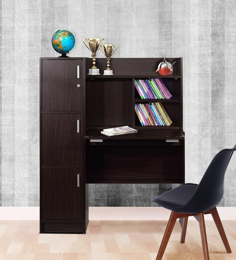 buy study table with drawers in wenge finish by marco online